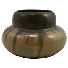 "Fulper 3.75"" x 6"" Urn/Vase 1909-1917 In Cat's Eye Flambe Glazes Mint"