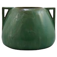 "Fulper 7.25"" x 10"" Arts & Crafts Urn/Vase In Rich Seafoam Green Frothy Glazes F281"