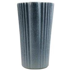 """Royal Haeger 12"""" Flower Vase #1753 In Stunning Blue/Lavender 'Pearl Shell' Glaze Mint"""