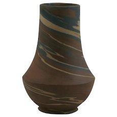 "Niloak Mission Swirl 4.5"" Vase In Natural Brown/Blue/Mocha/Cream Swirls"