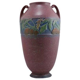 "Roseville Baneda 15.25"" Floor Vase In Pink Mottled & Frosted Glazes 600-15"