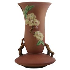 "Roseville Apple Blossom 10.25"" Vase In Blush Pink Glazes Gorgeous 388-10"