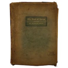 Roycrofters Leather Covered Book 'The Book of Songs' by Heinrich Heine d1903