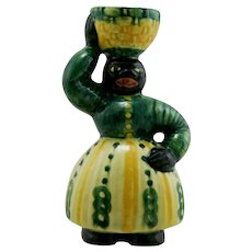 "Shearwater 6.5"" x 3.5"" Folkart Woman With Basket Figural c1980s Mint"