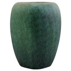 "Roseville Earlam 9"" x 6"" Squarish Vase 522-9 Blue/Green/Cinnamon Glazes"