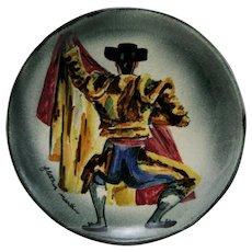 Fletcher Martin Mid-Century Stonelain Pottery AAA Of Nyc 'Toreador' Charger Mint