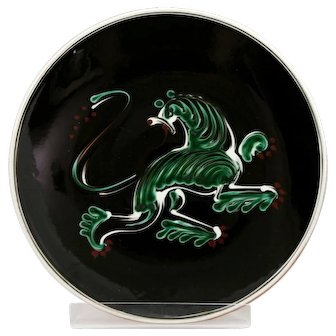 Arnold Wiigs Fabrikker Norway Mid-Century Charger Dragon By Eva Hase Mint