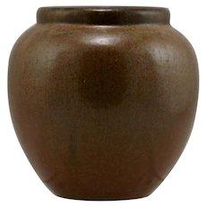 "Fulper 5.5"" x 5"" Ballvase In Copperdust Semi-Matte Glaze c1917-1923  Mint F492"