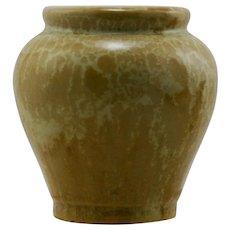 """Fulper Rafco 4"""" Vase In Gold Crystalline Glaze RAFCO Mint F235"""