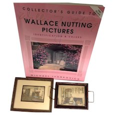 Two Wallace Nutting Paintings With Book