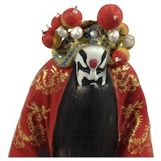 Chinese Opera Figurine-Jing Character; Artist Signed