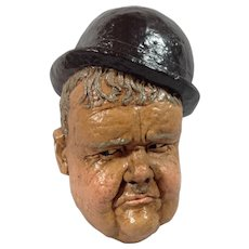 Oliver Hardy Plaster Wall Plaque