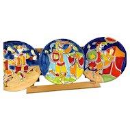 3 LaMusa Ceramic Plates Sicily, Italy