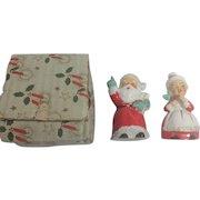 1950s JAPAN Santa & Mrs Claus Salt / Pepper