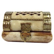 Bone & Brass Trinket Box