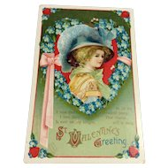 Signed Clapsaddle Embossed Valentine