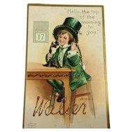 Embellished, Embossed, Signed Clapsaddle St. Patrick's Postcards