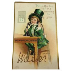 Embellished, Embossed, Signed Clapsaddle St. Patrick's Postcards