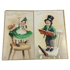 Pair Embossed St. Patrick's Day IAPC Cards