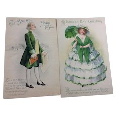 Handsome Pair Wolf St. Patrick's Day Cards