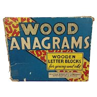 1937 Milton Bradley Wood Anagrams