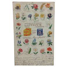 1908 Lipton Teas & Coffees Advertising Card