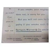 Sprague, Warner& Co Cigar Importers