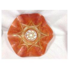 Dugan Peach Opalescent Carnival Glass Bowl