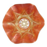 Dugan Peach Opalescent Carnival Glass Bowl