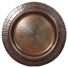 """""""Marquette"""" Hand Hammered Copper Plate"""