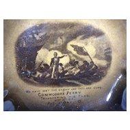 Rare Ridgways China 1812 Commemorative Dish
