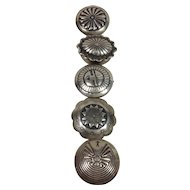 5 Western Design Metal Button Covers
