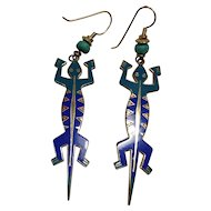 "Laurel Burch ""Lizardo"" Earrings"