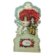 Small Romantic German Die-Cut Valentine