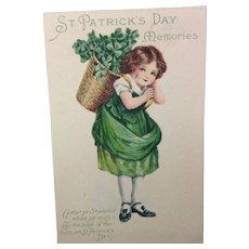 Basket of Shamrocks: Unused Postcard