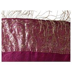 Purple & Gold & Paisley & Silk