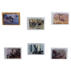 Six Nat'l Wild Turkey Federation Stamps