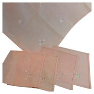 Pink Tea Cloth & Napkins