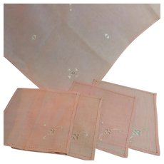 Pink Tea Cloth & Napkins