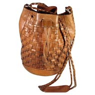 Silvia Fernandez Leather BoHo Purse