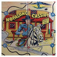 1950 Hopalong Cassidy Game Board: Milton Bradley