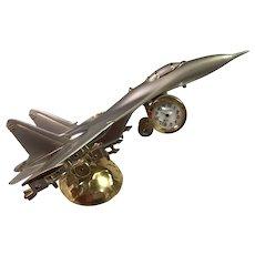 Fighter Jet Desk Clock