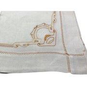 Art Nouveau Linen Table Cloth