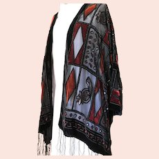 Dramatic Devore Evening Jacket