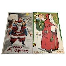 1908/09 Unusual Santa Postcards