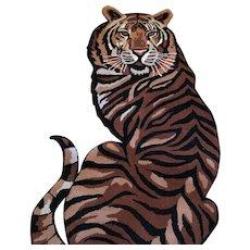 Wool Tiger Rug:  India