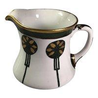 Cider Pitcher, Hand Decorated, Arts & Crafts Limoges France Wm. Guerin & Co