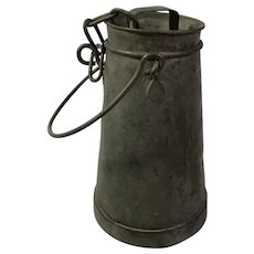 Galvanized Metal Cream / Milk Jug