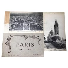 12 Paris Postcard Book WWI Era