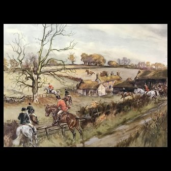 Pair John King Hunt Scene Prints
